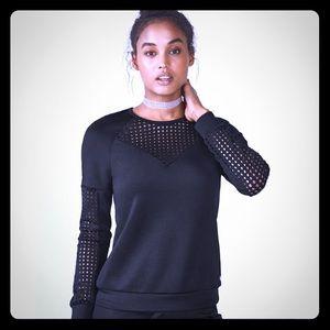 "NWT Fabletics ""Tilly"" Black Sweatshirt Size Medium"